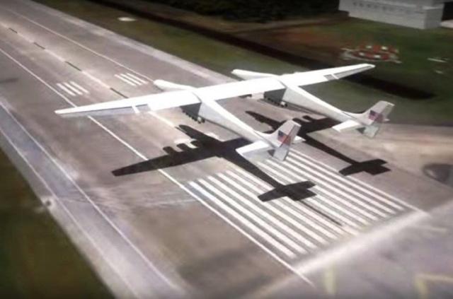 Uçağın kanat açıklığı tam 117 metre.