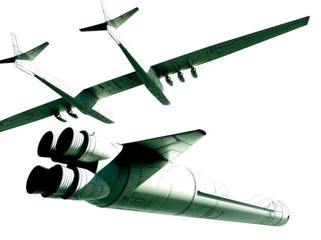Mohavi Çölü'nde özel bir hangarda üretilen uçak tam 6 jet motoruna sahip.