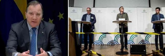 """Salgının başlangıcında olduğu gibi ikinci dalga da İsveç yanılgıya düştü.  Avrupa'da ikinci dalganın başlamasıyla birlikte İsveç'in ikinci dalgadan etkilenmeyeceğini savunan başta Anders Tegnell olmak üzere tüm İsveçli uzmanlar yanıldı.  Stefan Löfven, ikinci korona dalgasının uzmanların tahmin ettiğinden çok daha sert vurduğuna inanıyor.  Başbakan İsveç halkına Noel'de kısıtlamalara uymaları için çağrıda bulundu.  Löfven, """"Avrupa'nın geri kalanında gördüğümüz gelişme ile birlikte hastalık oranlarımız, maalesef ölüm oranlarımız da artacak"""" dedi.  İsveç Halk Sağlığı Kurumu, sonbaharda enfeksiyonun artan yayılımını hesaba katmadığı için defalarca eleştirildi. Başbakan Stefan Löfven de uzmanların ikinci dalganın gücünü yanlış değerlendirdiğine inandığını belirtti.  """"Sanırım meslekte çoğu insan önlerinde böyle bir dalganın olacağını görmedi, farklı kümelerden bahsediyorlar"""" dedi."""