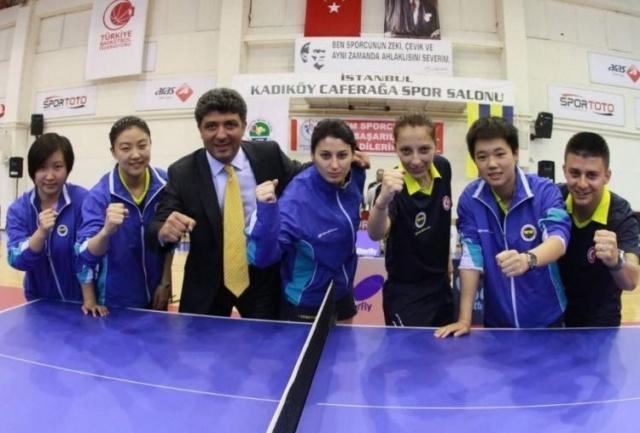 MASA TENİSİNDE 3 AVRUPA KUPASI  Fenerbahçe, Aziz Yıldırım döneminde masa tenisinde de 3 kez Avrupa'da kupa kazandı.