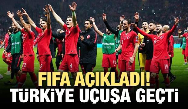 A Milli Futbol Takımı, FIFA'nın Kasım ayı dünya sıralamasında 3 basamak birden yükseldi.