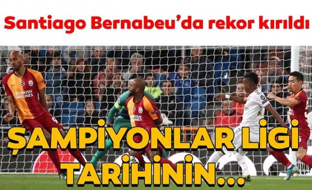 Galatasaray, UEFA Şampiyonlar Ligi A Grubu dördüncü maçında İspanyol devi Real Madrid'e konuk oldu.