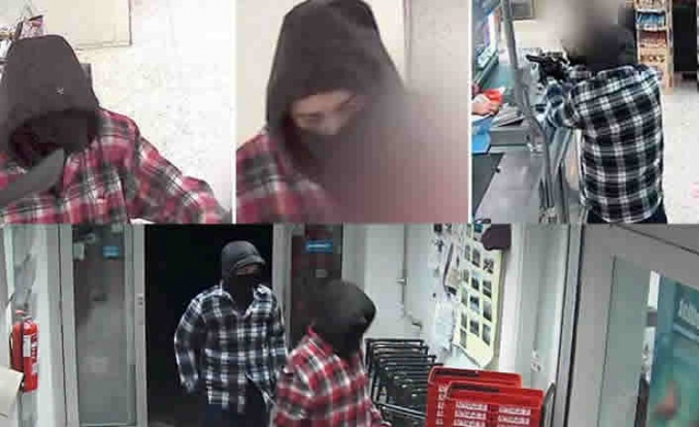 İsveç'in Åkersberga bölgesinde bulunan Ica marketine yönelik soygunla ilgili polis zanlıları bulmak için görüntüleri kamuoyu ile paylaştı.