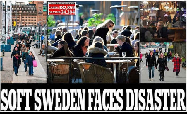 """İsveç açık okullar, restoranlar ve spor salonları ile korona virüs stratejisi yurtdışında büyük ilgi görüyor.  İngiliz gazetesi Daily Mail haberinde """"İsveç bir felaketle karşı karşıya mı?"""" şeklinde başlık attı.  Daily Mail'de yer alan makale binlerce yorum aldı ve makale İngilizler arasında hem tepki topladı, hemde hayranlık uyandırdı."""
