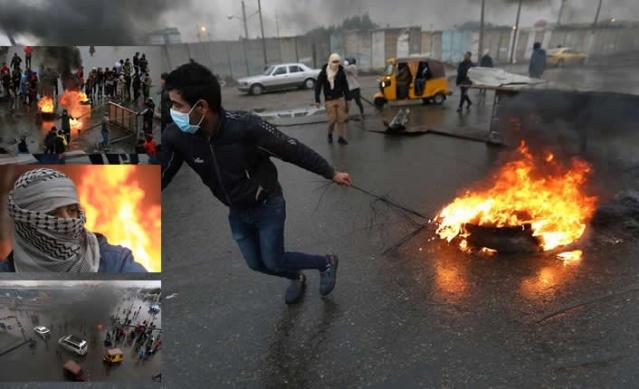 Irak'taki hükümet karşıtı göstericiler, başta Bağdat olmak üzere 9 vilayette ana yolları trafiğe kapatarak eylemlerini sürdürüyor.