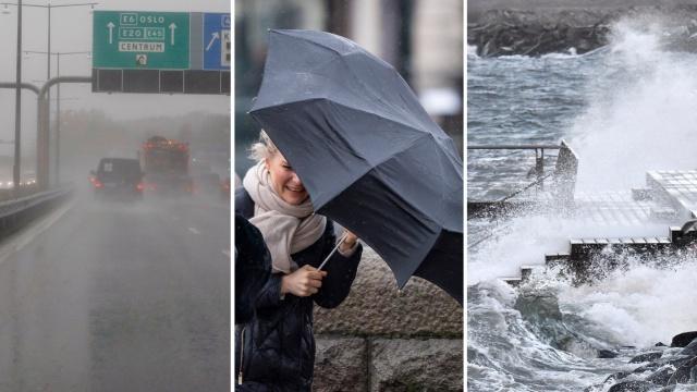 """Gün içinde hava kargaşası olması bekleniyor ve SMHI, ülkenin çeşitli yerlerinde 1. sınıf uyarılar yayınladı.  İsveç Ulaştırma İdaresi, Västra Götaland'daki E6 yolunda yollara düşen ağaçlar ve su taşkınları konusunda uyardı.  SMHI, ülkenin çeşitli yerlerinde """"çok kuvvetli rüzgarlar"""" için 1. sınıf uyarılar yayınladı, ancak gün boyunca İsveç'in neredeyse tamamında şiddetli rüzgar ve yağışlı hava bekleniyor."""
