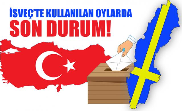 Türkiye'nin tarihi seçimi için İsveç'te sandığa giden Türkiye Cumhuriyeti vatandaşlarının seçimde kullandıkları oylarla ilgili son durum.
