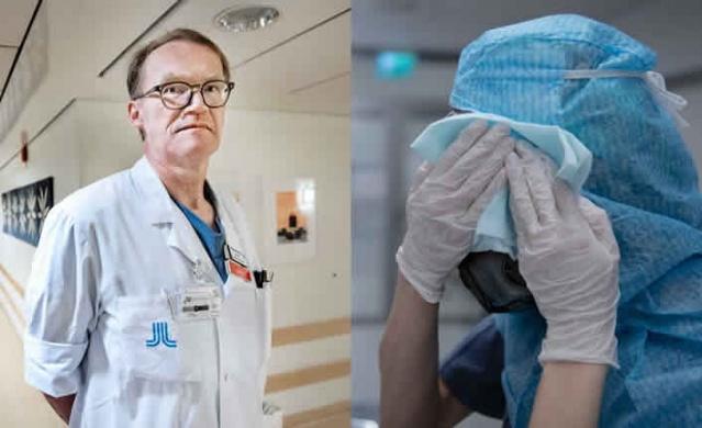 İsveç'te pandemi sırasında ön saflarda çalışan birçok doktor, hemşire ve yardımcı hemşire olmak üzere, sözleşmeli sağlık çalışlarında koronavirüs tespit edildiği ortaya çıktı. Koronavirüse yakalanan on binden fazla sağlık çalışanının önemli bir bölümü yoğun bakımda tedavi görmüş ve bazıları da hayatını kaybettiği belirtildi.  Danderyd Hastanesi başhekimi Johan Styrud, başlangıçta çok yüksek oranda sağlık çalışanının covid-19'a maruz kaldığını söyledi.