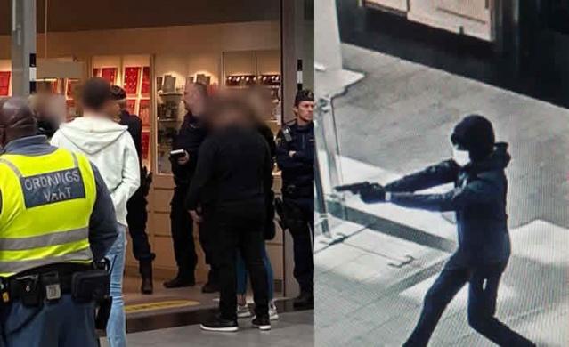 Başkent Stockholm'ün Kista bölgesinde bulunan ve bölgede popüler olan Kista Alışveriş Merkezi (Galleria)'nde silahlı soygun gerçekleşti.  Alışveriş merkezindeki kuyumcuyu hedef alan iki soyguncunun görüntüleri kameralara yansıdı.