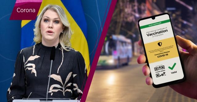 """Koronavirüse karşı aşı olanların, aşı olduklarını göstereceği sertifikalar yaza kadar hazır hale getirilecek.   COVID-19'a karşı aşı olduğunuzu gösteren dijital bir sertifika 1 Haziran'a kadar hazır olacak. Dijitalleşme Bakanı Anders Ygeman, hükümetin hedefi yaza kadar dijital aşı sertifikasını hazır etmek ifadeleri kullandı.  """"İsveç ve çevremizdeki ülkeler açılmaya başladığında, muhtemelen seyahat etmek ve diğer faaliyetlere katılmak için aşı sertifikalarına ihtiyaç duyulacaktır."""""""