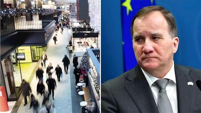 """Stefan Löfven, Noel alışverişi sırasında Stockholm'ün merkezindeki Gallerian'daydı.  Her konuşmasında topluma kalabalıklardan uzak durun, alışveriş merkezlerine gitmeyin demesine rağmen.  Başbakan Löfven Noel öncesi 20 Aralık tarihinde Stockholm'deki Gallerian'da görüntülendi. Basına sızan görüntüler üzerine, sosyal medya üzerinden başbakanın kendi söylediklerini ihlal ettiği yorumları yapıldı.  Löfven'in basın sekreteri Mikael Lindström, """"Başbakan'ın Halk Sağlığı Kurumu'nun tavsiyesini takip ettiğini ve tıkanıklığı önlemek için kendi çağrılarına uyduğunu söyledi."""