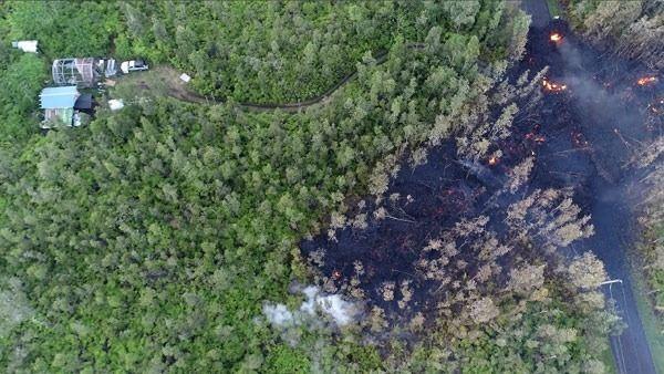 Şok görüntüler drone yardımıyla alınabildi, bölgeye kimse giremiyor.