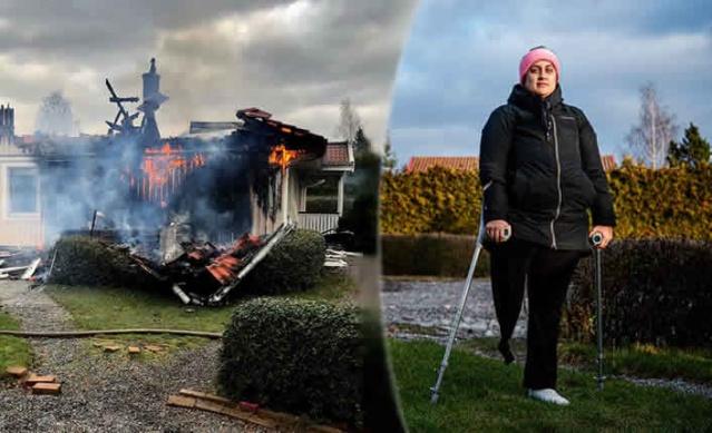 İsveç'te evi yanan Sandra isimli kadının ev sigortası para ödemeyi reddedince yüz binlerce kron parayı cebinden ödemek zorunda.