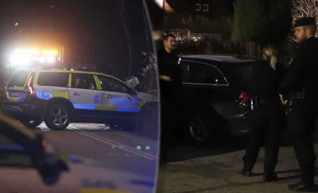 İsveç'in başkenti Stockholm'ün Akalla bölgesinde dur ihtarına uymayarak kaçan aracı kovalayan polis kaza yaptı.