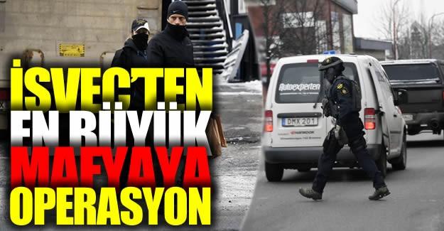 İsveç'in en güçlü mafya grubu olarak dünya çapında nam salan Hells Angels çetesine polis tarafından operasyon yapıldı.
