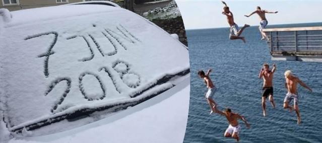 İsveç'te iklimin dengesi şaştı diye yorumların yapıldığı bu yıl Haziran ayında çekilen bu görüntüler oldukça büyük ilgi gördü.