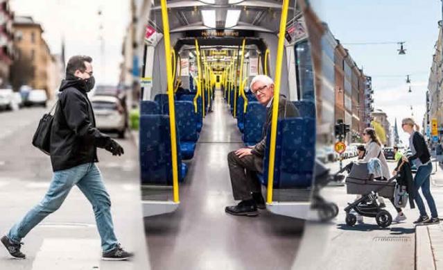 Koronavirüs kriziyle ilgili bir ay önce Stockholm'da insanlar bir anda şehri, yolları ve sokakları boşalttı, metro araçlarının kullanımı ve spor salonlarından insanlar olur olmaz bir sessizliğe çekildi. Zaman içinde hızla değişen insanların davranışı, sürekli korkmak yerine, korkuyla yüzleşme olarak farklı etki yaratmaya başladı. Her geçen gün insanların daha fazla dışarı çıkmasıyla birlikte 23 Mart ile 23 Nisan arasında aynı bölgelerden çekilen kareler çekilerek karşılaştırıldı.  İşte bir ay içindeki değişen görüntüler.