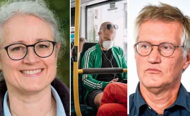 İsveç'te koronavirüsle mücadelede en fazla tartışılan konulardan biri olarak öne çıkan maske konusunda Anders Tegnell, maskenin güvenli olmadığını söylemesine karşı farklı görüşlerde maskenin karşıdaki kişiyi korumakta etkili olduğunu savunuyor.  Dünya ve Avrupa'nın birçok ülkesinde maskenin koronavirüsün bulaş oranını düşürdüğü yönündeki çalışmalar sonucunda takılıyor. Ancak İsveç'te maske konusu devamlı gündemde olan bir konu olmasına rağmen hayata geçirilmiş değil.