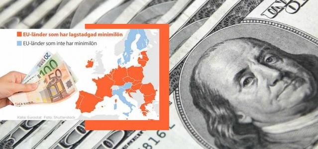 AB ülkelerindeki asgari ücretler ile Türkiye'deki asgari ücret kıyaslamasında ara fark gittikçe açılıyor.  Türkiye'de 2021 yılının asgari ücretinin belirlenmesi için görüşmeler başladı. Asgari ücret çok sayıda işçi ve işveren tarafından merakla beklenirken, şu anda uygulanan asgari ücret 2010 yılından bu yana ilk kez 300 doların altına inmiş oldu.  İsveç'te yasal bir asgari ücret yoktur, ancak asgari ücretler farklı toplu sözleşmeler arasında değişiklik gösterir. Çoğu, 20 yaş ve üstü kişiler için ayda 20.000 kron (2.364,23 dolar) civarındadır.   Türkiye'de asgari ücret 296.8 dolara gerilerken, bunun sonucunda AB ülkeleri ile makas iyice açıldı.