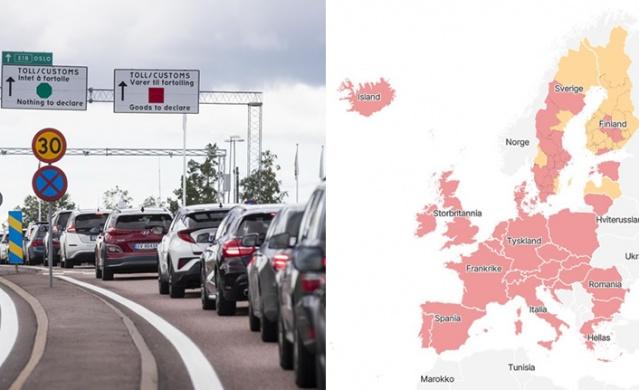 Norveç hükümeti seyahatlerle ilgili yeni kısıtlamalar getirdiğini duyurdu.  Norveç seyahat tavsiyesini genişletiyor ve ayrıca Värmland, Västernorrland, Norrbotten ve Gotland kırmızı bölgeler olarak listeye aldı.  Yalnızca Kalmar henüz Norveç tarafından kırmızı listeye alınmadı ve hala sarı bölge olarak sınıflandırılmaktadır. Ek olarak, Norveç'in, İskandinav ülkeleri dışında Avrupa genelinde kırmızı bir liste hazırladı.