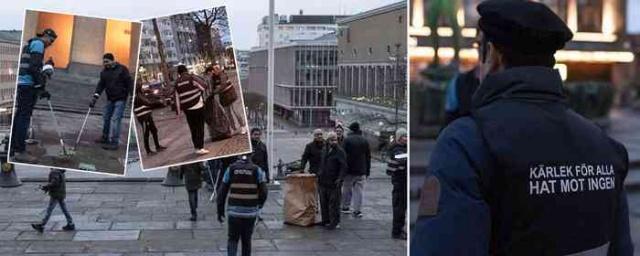 İsveç'te yeni yıl kutlamaları sırasında Göteborg, Luleå, Stockholm ve Malmö'de çevre kirliliğini temizlemek için Ameddiyya Müslüman Cemaatinin üyeleri iş başına geçti.