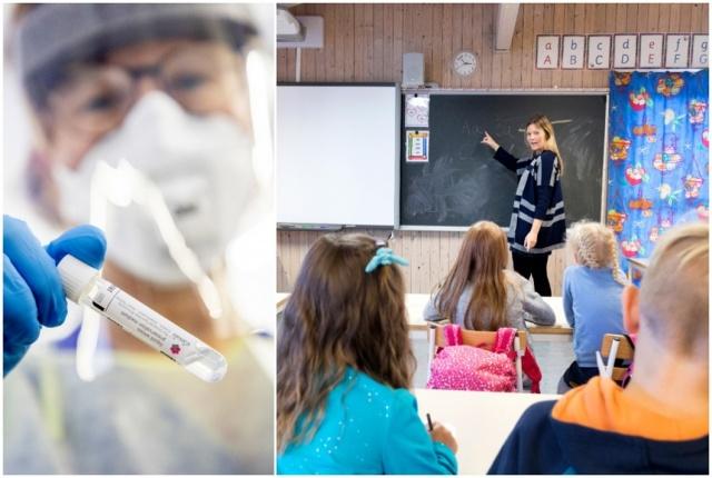 Stockholm'deki Järva bölgesindeki büyük bir ilkokulda iki çalışanın korona virüsüyle enfekte olduğu doğrulandı.  Ancak ebeveynlere ve öğrencilere enfeksiyonun okulda bulunabileceği bildirilmemiştir.
