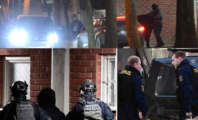 İsveç'in başkenti Stockholm'de polis tarafından şafak operasyonu yapıldı.  Güney Stockholm'de çocuklara yönelik suçlar, insan ticareti ve uyuşturucu tacirliği yaptıkları belirlenen bazı suçlulara karşı polis eş zamanlı şafak operasyonu düzenledi.  Edinilen bilgilere göre, uyuşturucu, çocukların kurye olarak kullanılması ve insan ticareti yapan bazı kişilerle ilgili bir süredir takip yapan polis, zanlıları yakalamak için bir kaç adrese eş zamanlı operasyon düzenledi.