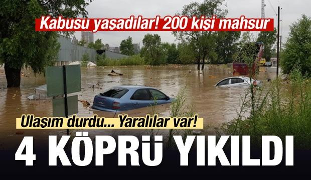 Ordu'nun Ünye İlçesi'nde şiddetli yağışların meydana getirdiği taşkın sonucu 4 köprü yıkıldı. Karadeniz Sahil yolunda ulaşım çift taraflı durduruldu. Şimdiye kadar 4 yaralı var, Mahsur kalan 165 kişi kurtarıldı.