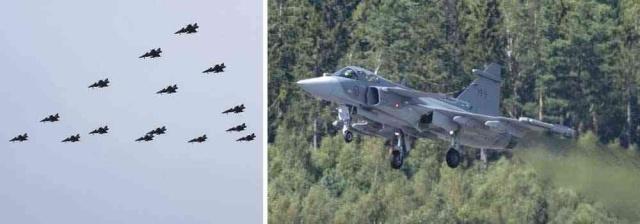 ABD istihbarat servisi NSA, Saab'ı gözetledi ve özellikle Gripen savaş uçağı hakkında bilgi toplamaya çalıştı.  Danimarka radyosunun ele geçirdiği 2015 tarihli gizli raporlarına göre, ABD Saab'ın ürettiği savaş uçaklarını takibe aldı.  Amerikan istihbarat servisi NSA, Danimarka, İsveç ve diğer ülkelerdeki yetkililer ve özel şirketler hakkında casusluk yapmak için Danimarka Silahlı Kuvvetlerinin istihbarat servisi FE (Savunma İstihbarat Servisi) ile işbirliği yapmış olabileceği üzerinde duruluyor.