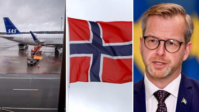 """İçişleri Bakanı Mikael Damberg: """"İsveç yakında Norveç'ten girişleri yasaklayacak""""  İçişleri Bakanı Mikael Damberg TT haber ajansına yaptığı değerlendirmede, İsveç'in yakında Norveç'ten girişleri yasaklayacağını söyledi.  Oslo bölgesinde yeni virüs varyantının yayılmasına karşı bir önlem olarak İsveç'in Norveç'e kısıtlamalar getireceği belirtildi."""