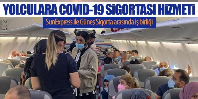 """Güneş Sigorta ile anlaşan SunExpress, Koronavirüs teminatlı """"Covid-19 Turist Koruma ve Destek Sigortası"""" sunmaya başladıklarını açıkladı. Sigorta güvencesi altında olanlar, Türkiye'de konaklayacakları sürede ilave tedavi masrafı olmaksızın en iyi sağlık hizmetlerinden faydalanabilecek.  Ulusal ve uluslararası otoritelerle yakın iş birliği içinde yolcularının ve uçuş ekiplerinin sağlıklı ve emniyetli seyahati için gerekli tüm tedbirleri aldıklarını belirten SunExpress, Avrupa'nın en güvenli turizm destinasyonlarından biri olan Türkiye'ye seyahat etmek ve burada tatil yapmak isteyen misafirlere  Güneş Sigorta iş birliğiyle Koronavirüs teminatlı güvence seçenekleri sunmaya başladığını açıkladı."""