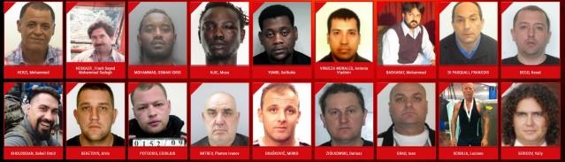 Avrupa genelinde cinsel saldırı suçu işlediklerinden şüphelenilen ya da hüküm giyen 18 kişinin fotoğrafı eumostwanted.eu isimli internet sitesinde öne çıkarılarak yayınlandı.