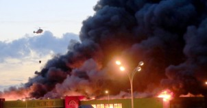 Alışveriş merkezinde büyük yangın!