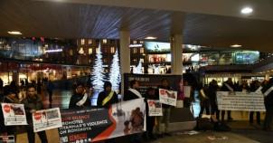 Arakan'daki Müslümanlara uygulanan katliam İsveç'te protesto edildi