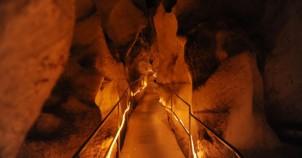 Bu mağaraya 1 metre karda bile giren terliyor
