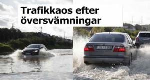 İsveç'te aşırı yağış ve sel taşkınları trafiği felç etti