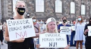 Danimarka'da 'Moria kampındaki sığınmacıların ülkeye kabulü' için gösteri yapıldı