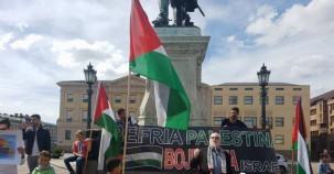 İsveç'te İsrail Protestosu