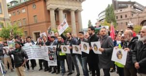 İsveç'te Arakan protestosu