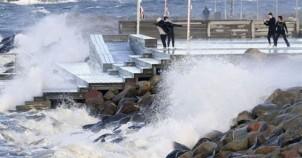 Fırtına İsveç'i böyle vurdu!