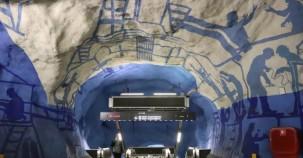 Dünyayı kendine hayran bırakan Stockholm metro sanatı