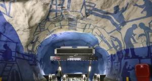 Dünya'nın en güzel metro sanatı Stockholm'de