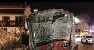 23 kişinin yaralandığı korkunç kazanın görüntüleri