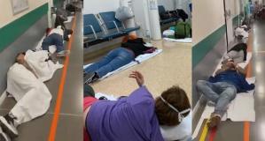 İspanya'da coronavirüs hastaları yerlerde yatıyor