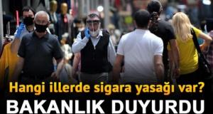 Türkiye'de koronavirüs nedeniyle, sokakta sigara içmek yasaklandı