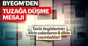 """Türkiye'den """"Tuzağa Düşme"""" mesajı"""