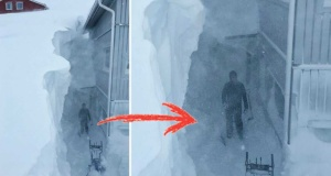 İsveç'in o bölgesinde kar 2 metreye ulaştı