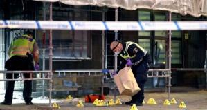 Malmö saldırısı olay yeri görüntüleri