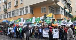 """İsveç'te """"Hindistan"""" protesto edildi"""