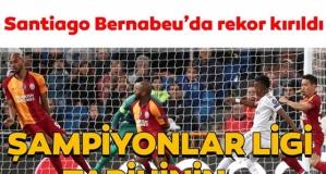 Real Madrid - Galatasaray maçında rekor kırıldı!